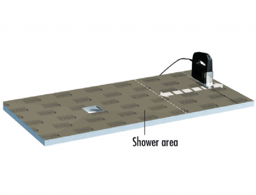 Lux Elements (LTUBE18016) Step Up Shower Tray 1800 x 750 x 30/45 mm - Can Be Cut Down To Any Size